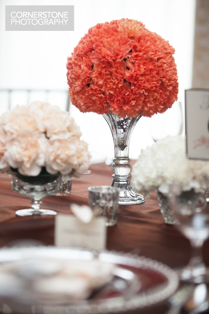 Carnation pomander centerpiece