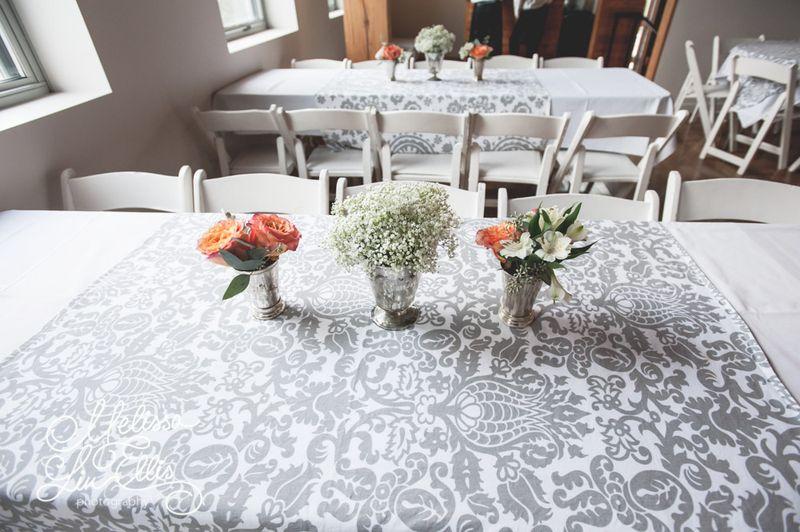 Grey and white wedding