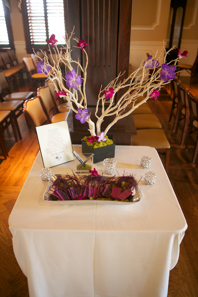 Wishing tree with orchids