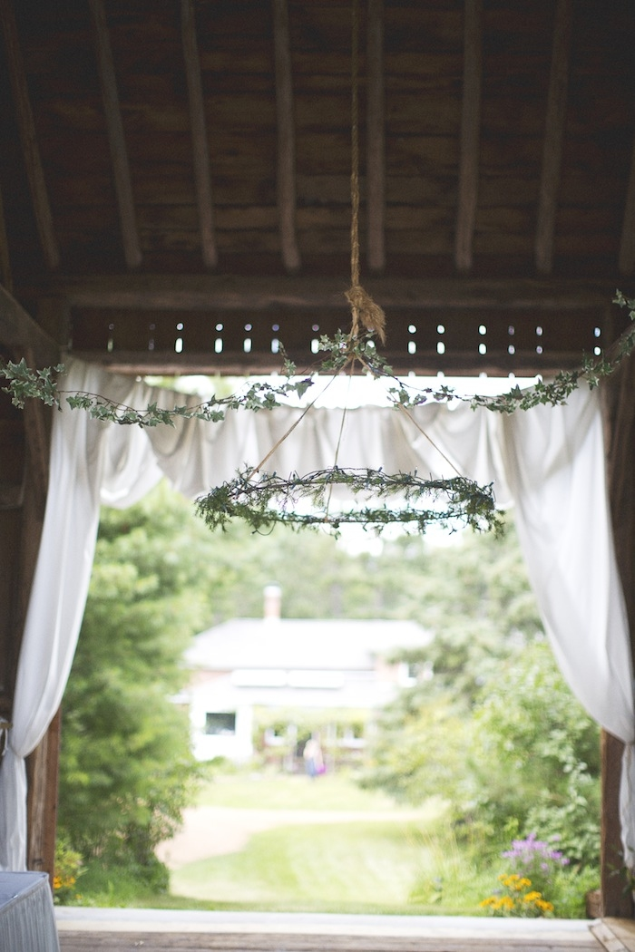 Beautifully decorated barn wedding