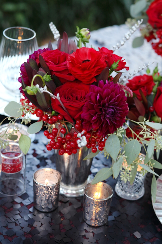 Beautiful red floral arrangements