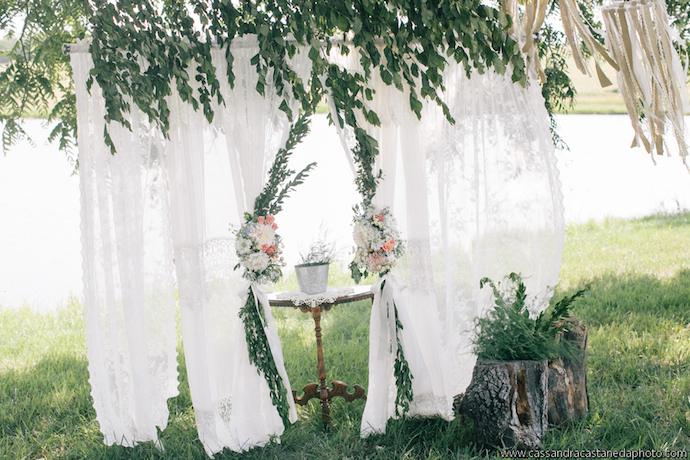 Lace curtains and flowers