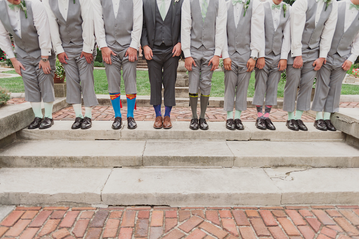 Unique groomsmen socks