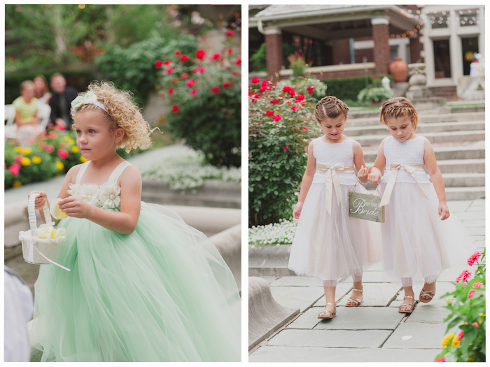 Mint green flower girl dress