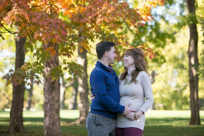 Kansas City fall maternity shoot