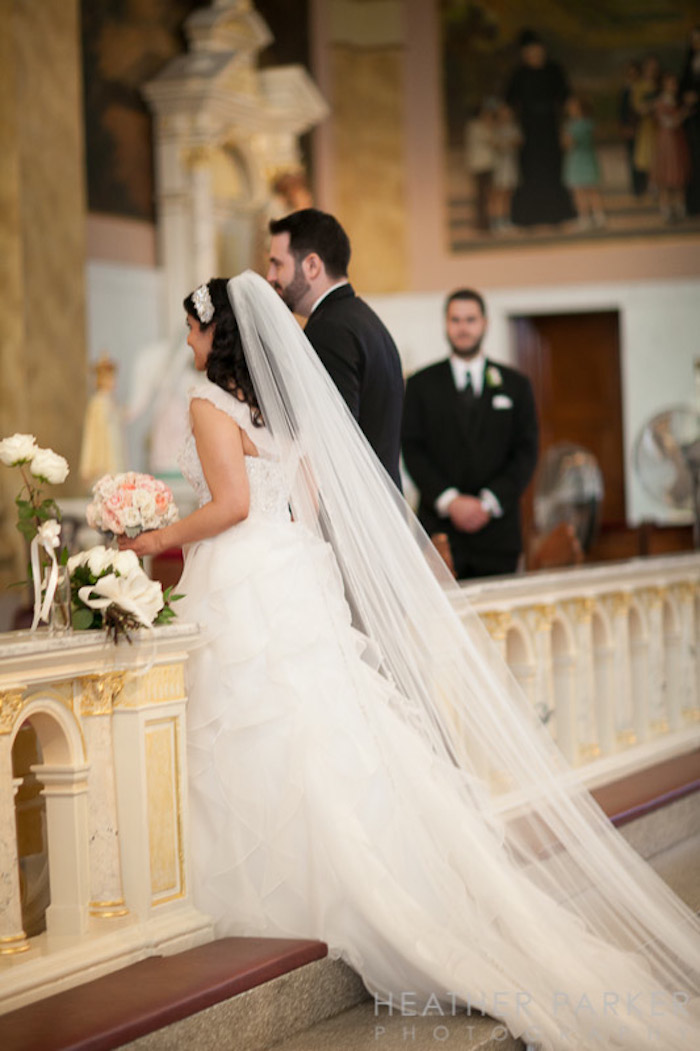 Beautiful cathedral length veil