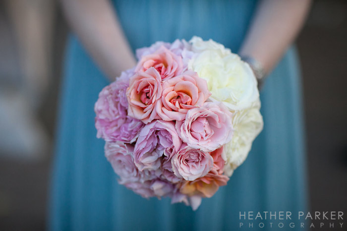 Pink and peach ombre flowers