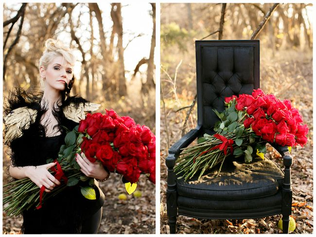 Giant red rose bouquet