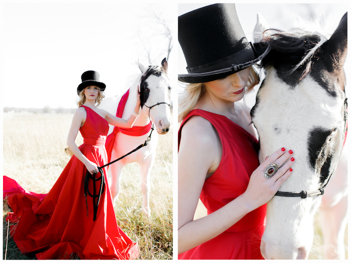 Top hat and horse