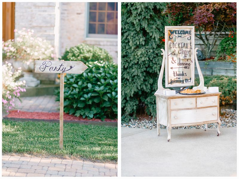Welcome signs for reception guests