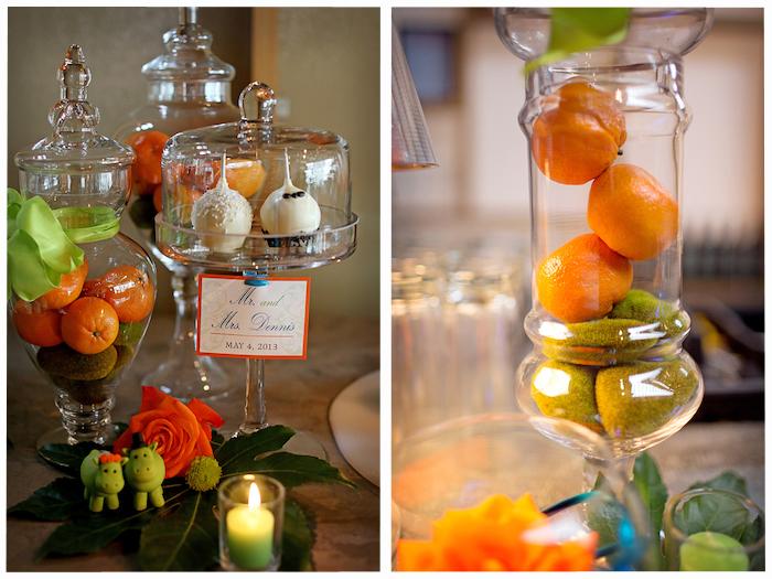 Clementine centerpieces