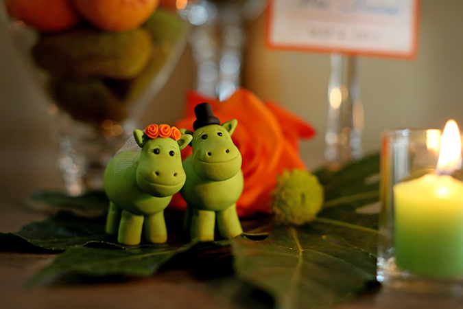 Little hippo cake toppers