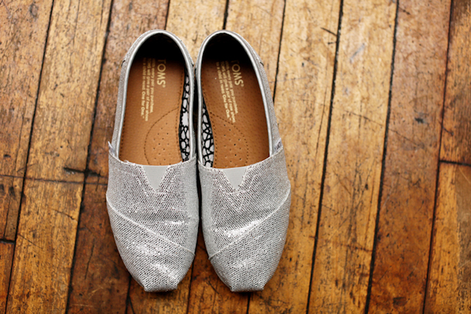 Silver toms for the bride