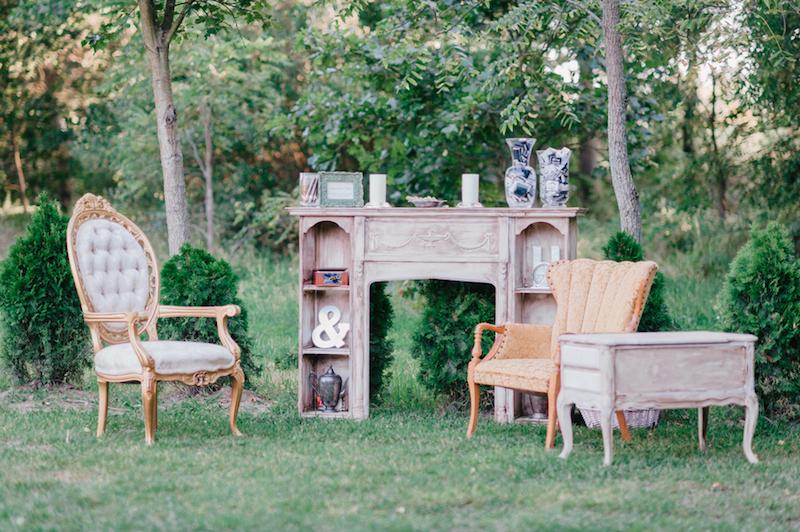 Vintage furniture display