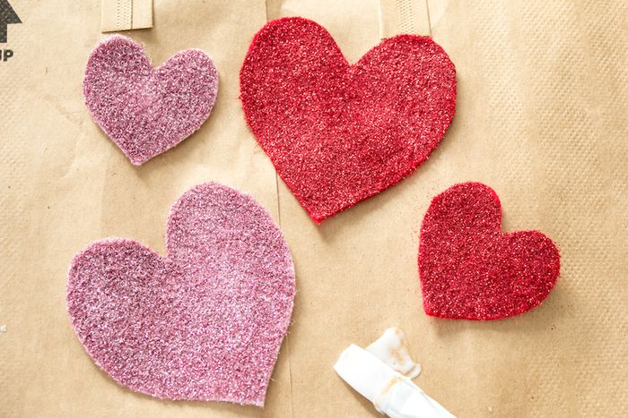 Glitter Heart Valentine DIY-5