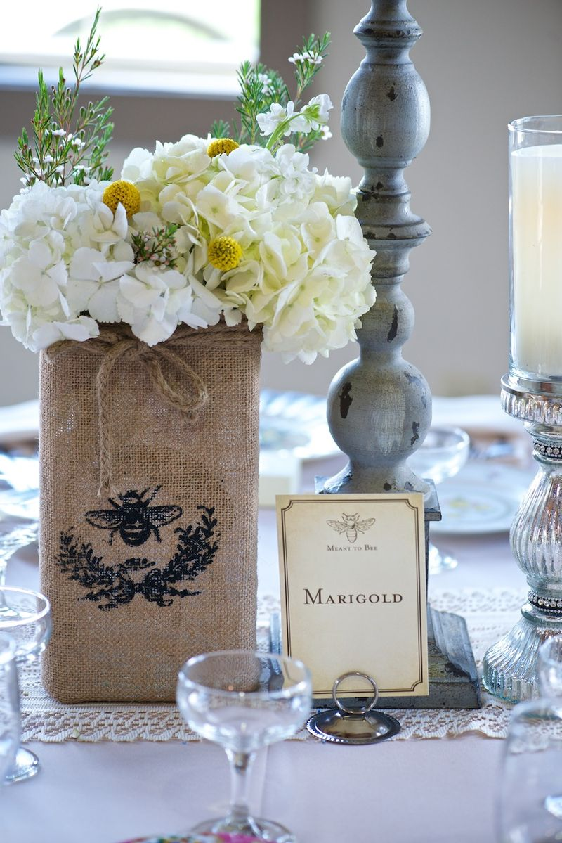 Flower themed table numbers