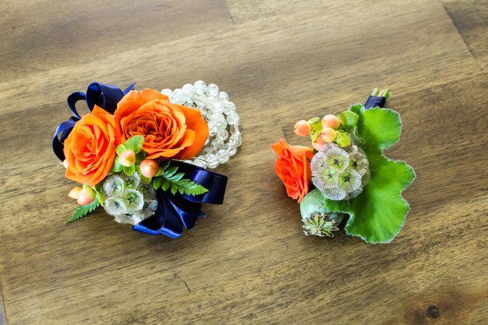 Orange and navy wedding