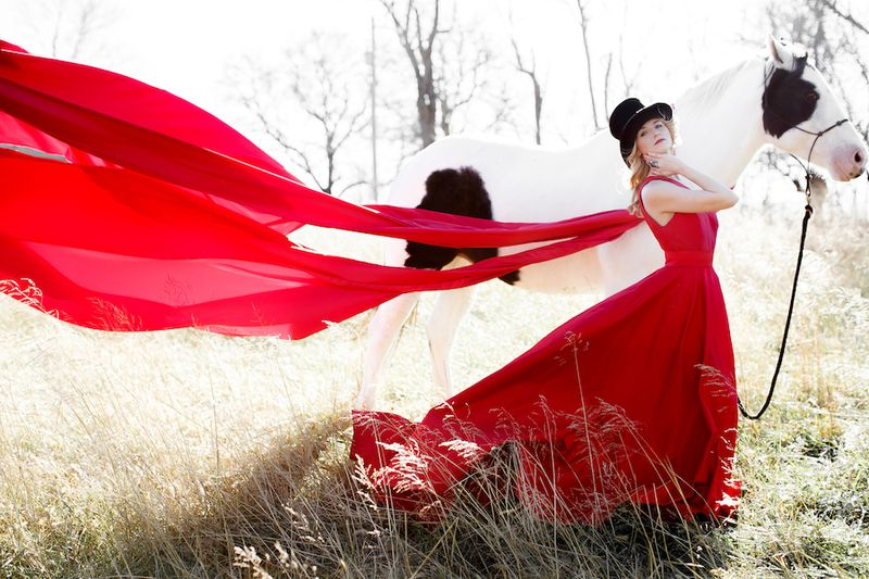 Beautiful red Ramona Keveza gown