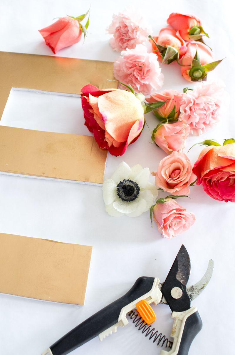 Floral Letter DIY-4