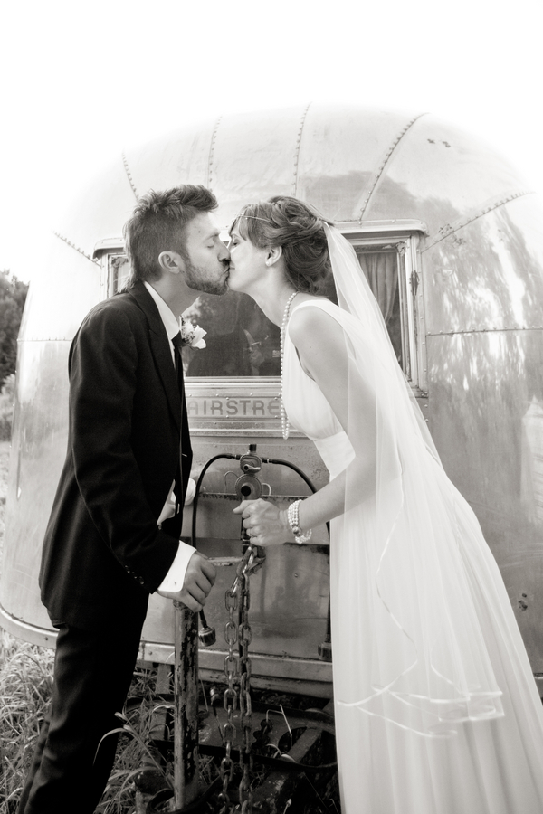 Airstream trailer kiss