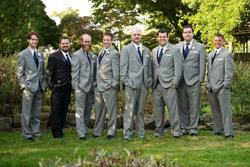Grey groomsmens suits
