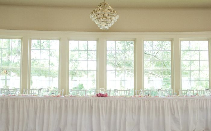 Chandelier over the head table