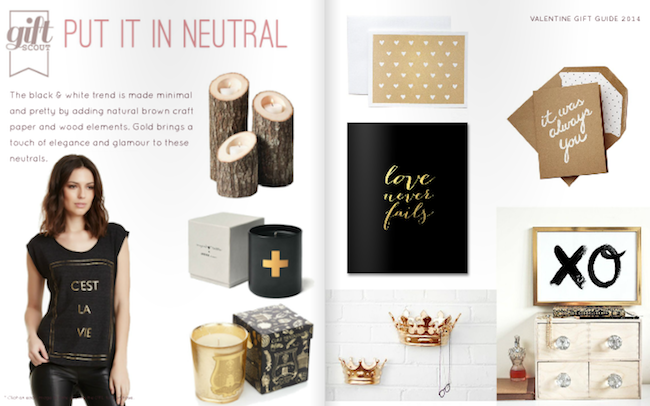 Black white and gold valentines inspiration