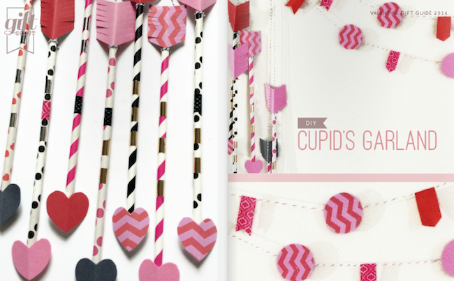 DIY Cupids Arrow Garland