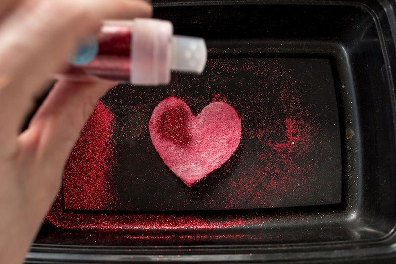 Glitter Heart Valentine DIY-4