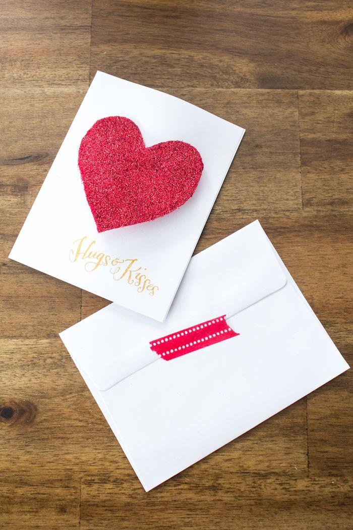 Glitter Heart Valentine DIY-8