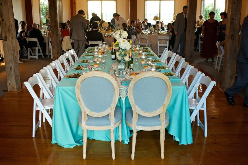 Turquoise head table