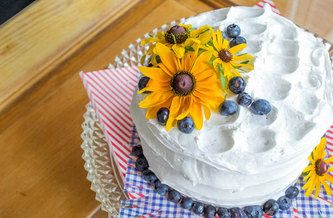 Summer-flowers-and-blueberries