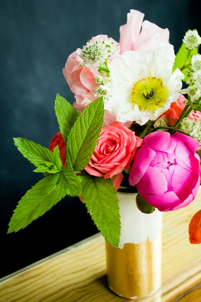 Mint in a flower arrangement