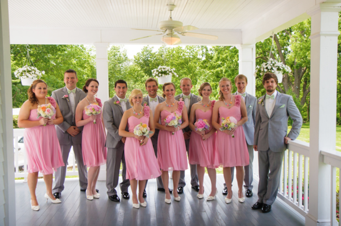 Colorful spring wedding