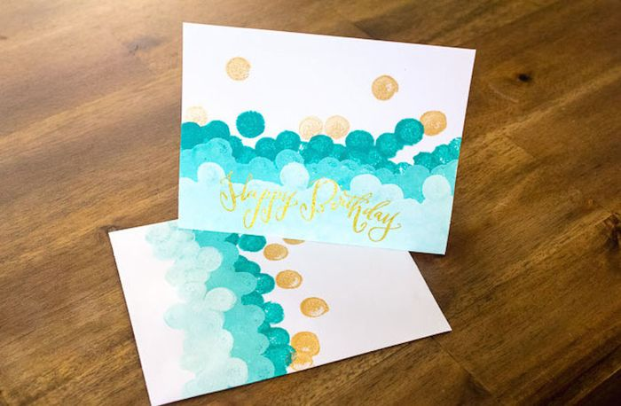Ombre stamped notecards