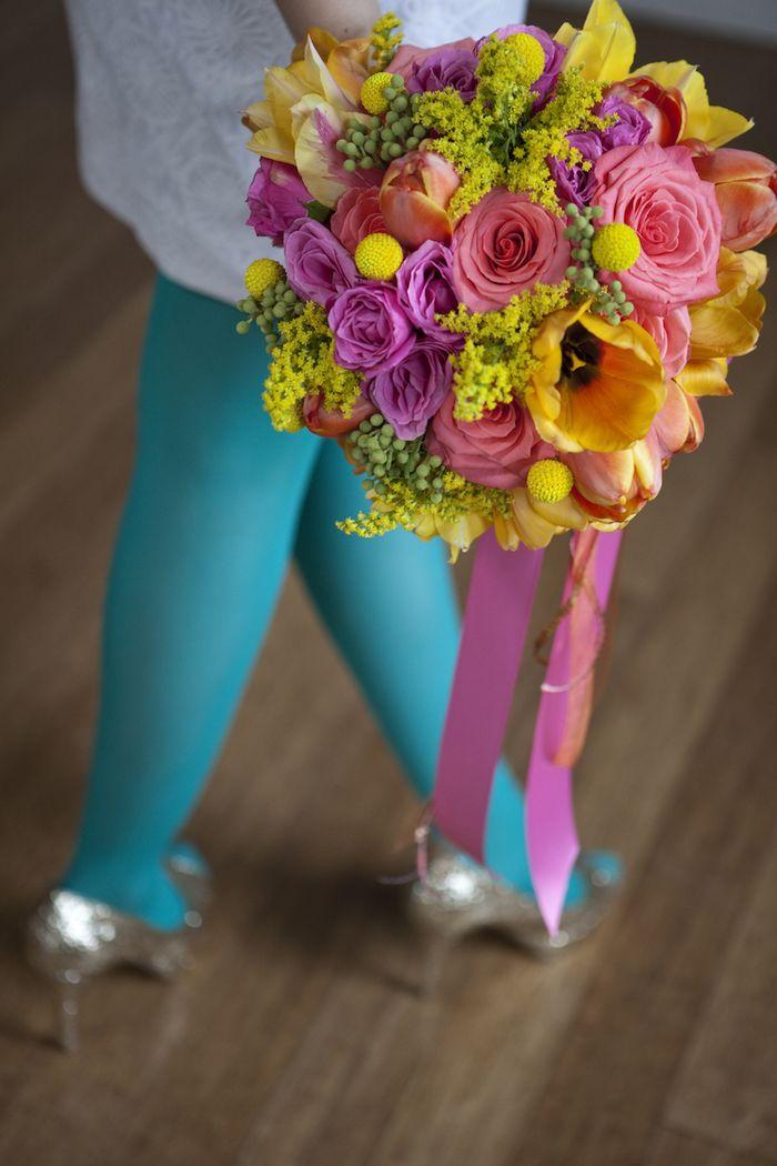 Super colorful bridal bouquet