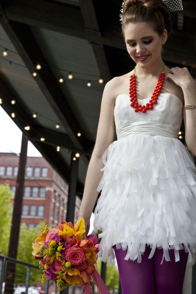 Flirty fringe bridal gown