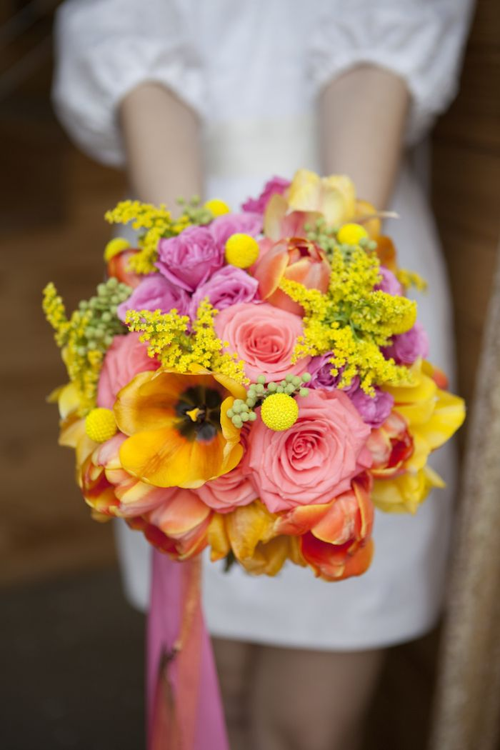 Pink, yellow, and orange bouquet