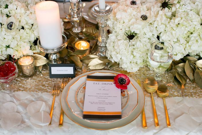 Gold-tableware