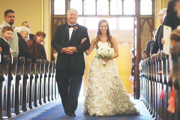 Ruffled-white-wedding-dress