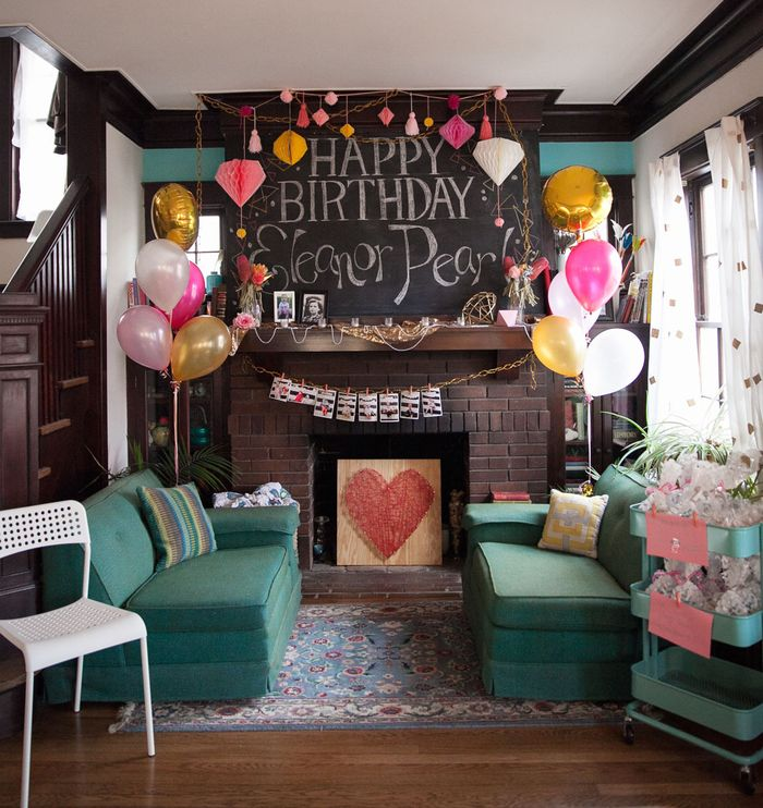Pink-gold-and-coral-birthday-party