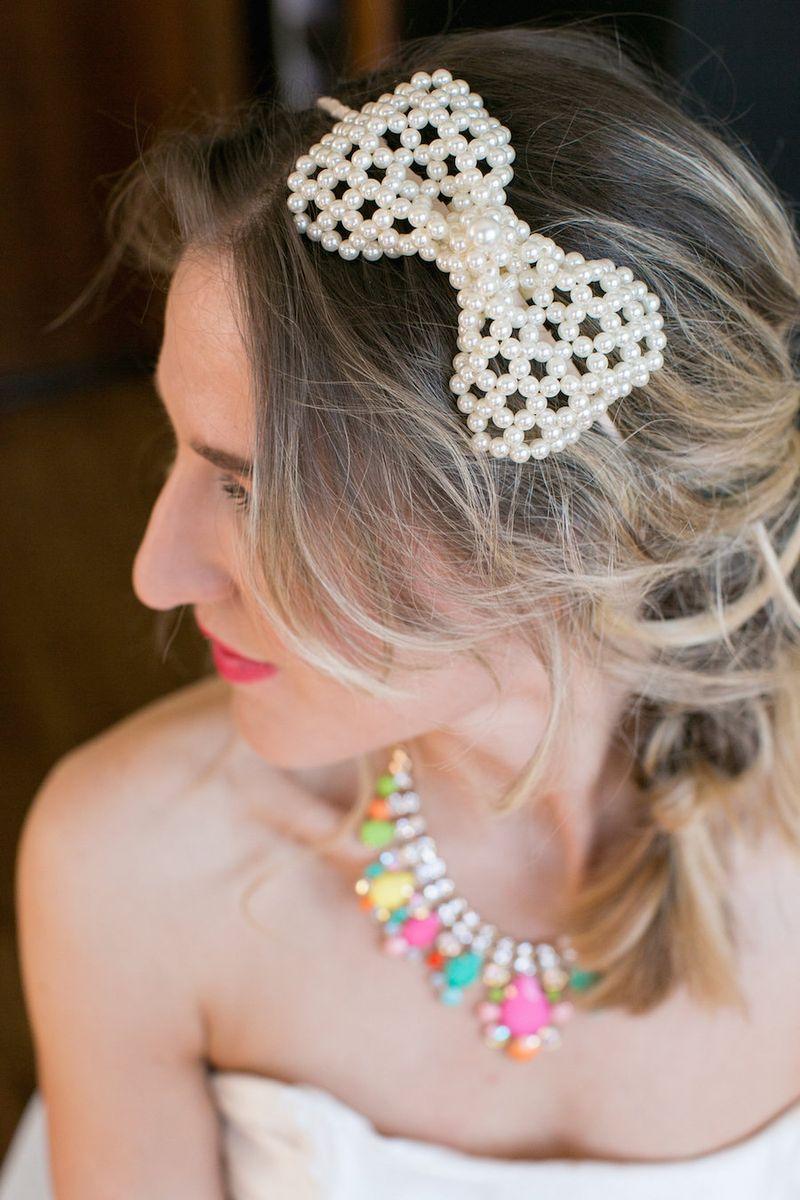 Pearl-bow-headband