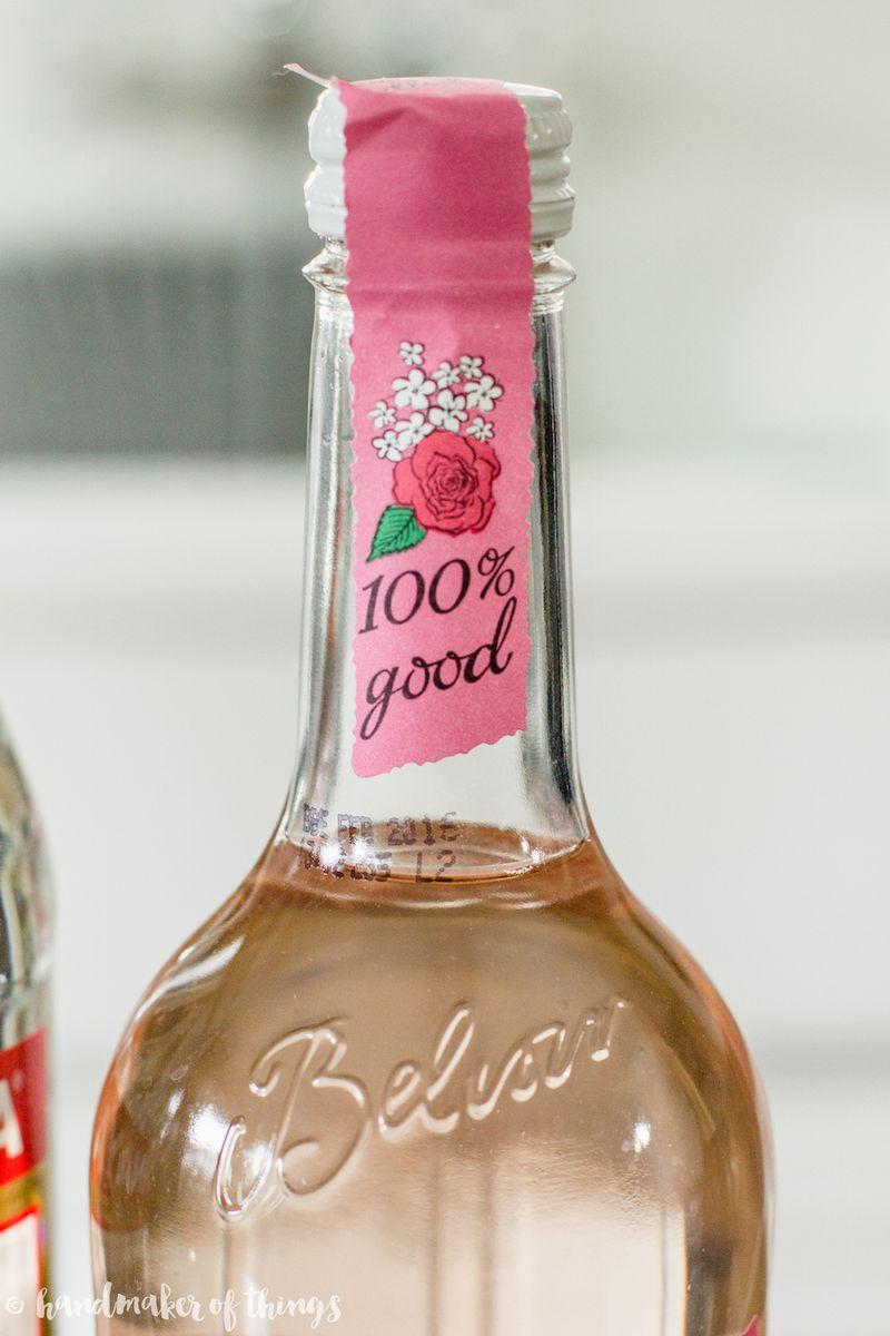 Basil rose lemonade cocktail-2