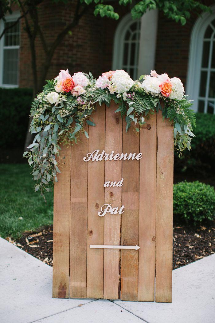 Custome made wood wedding sign