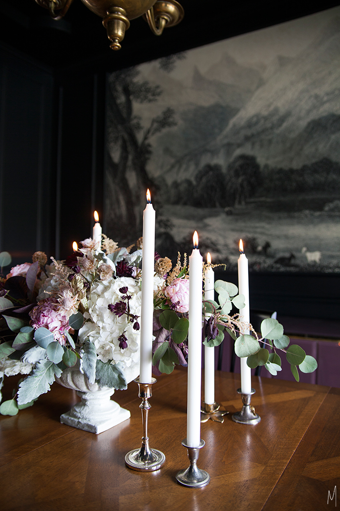 The-Makerista-Dining-Room-Florals-Bloom-Academy-Black-Walls-Traditional-Flowers