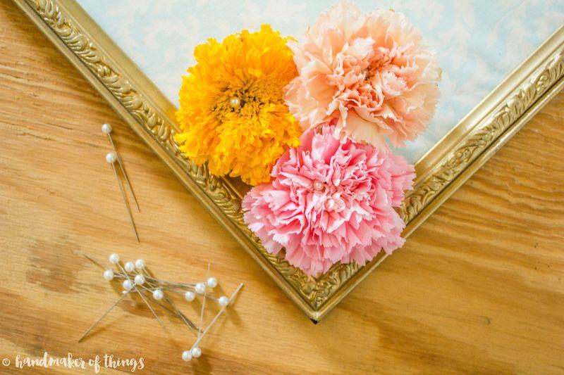 Framed Flower DIY-14