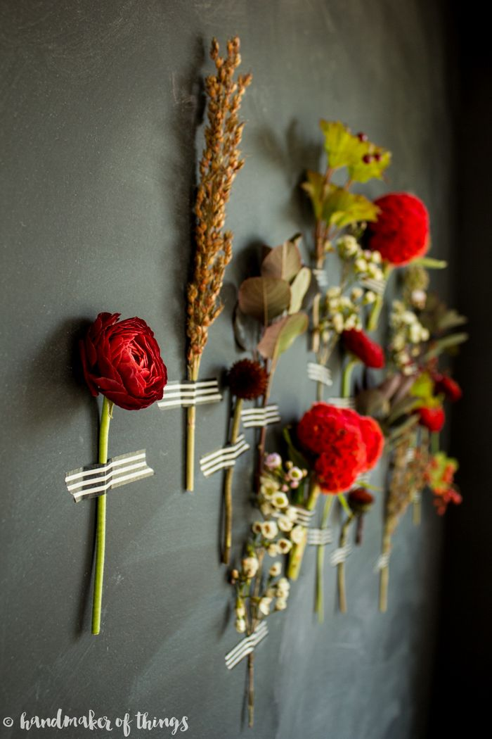 Fall floral wall diy-8