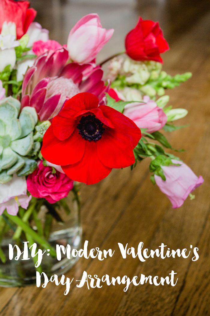 DIY Modern Valentine's Day Arrangement