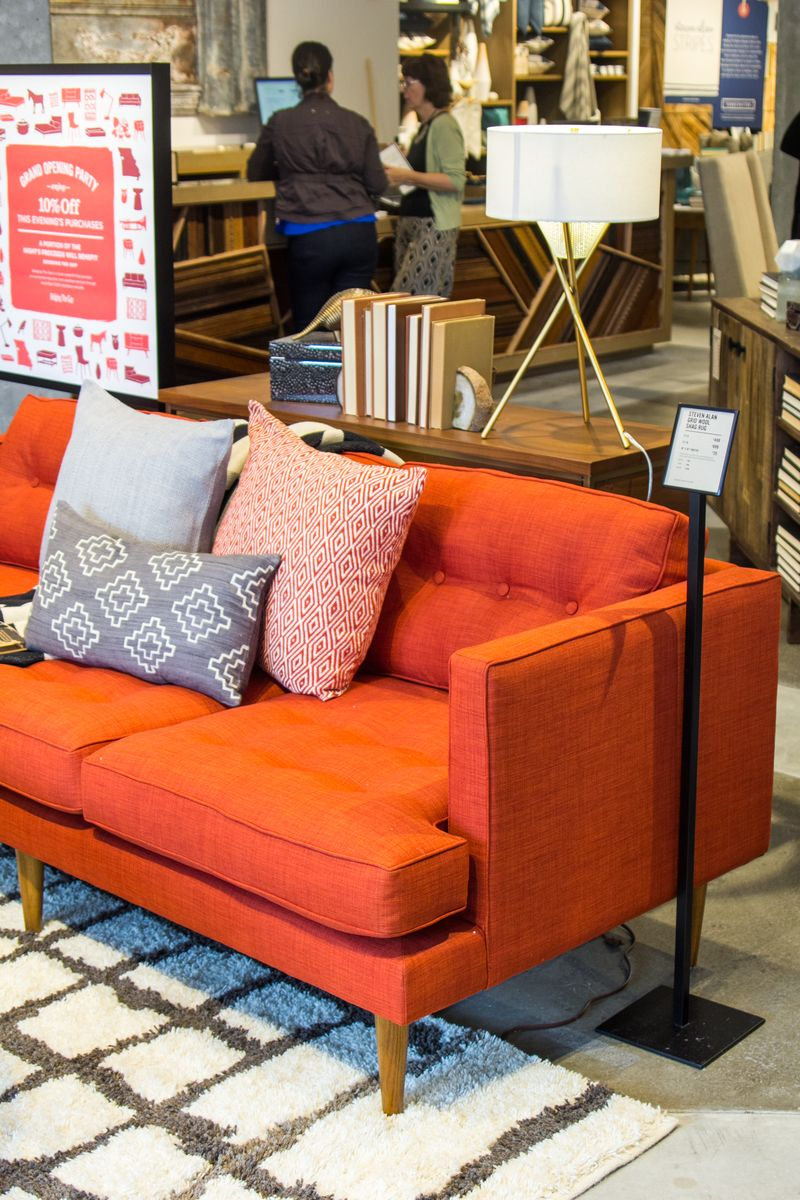 The Peggy sofa at West Elm