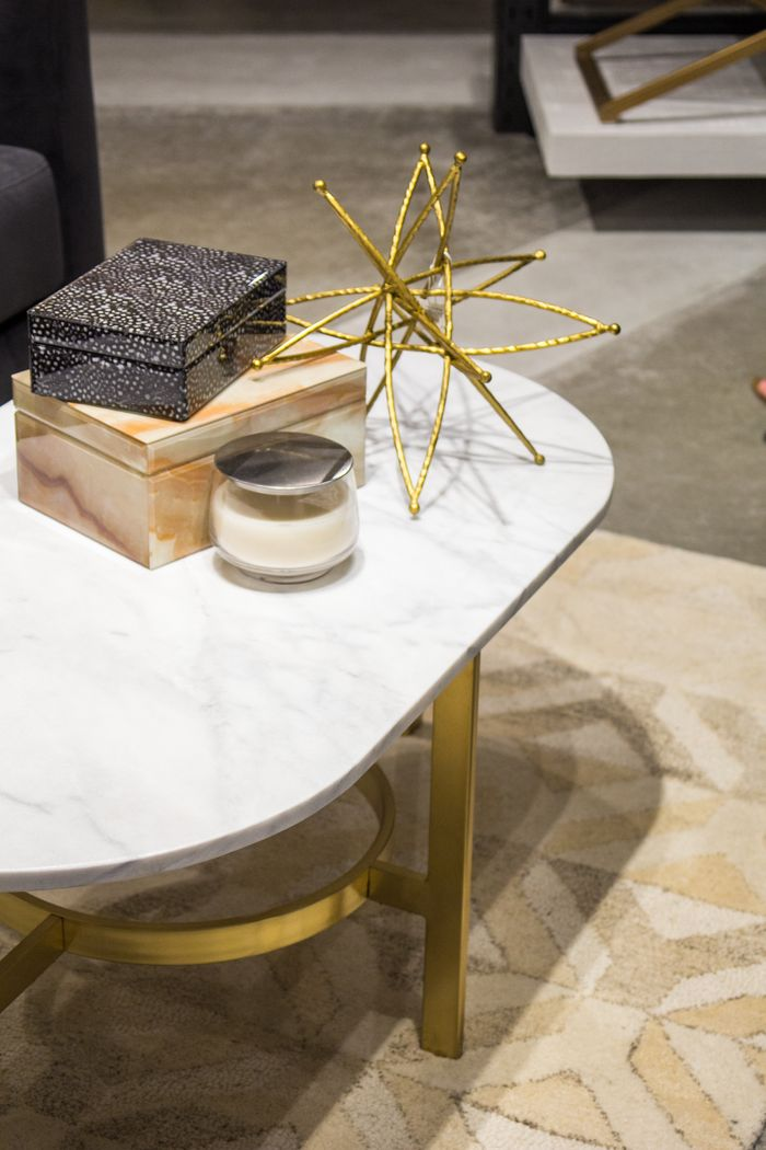 West Elm marble and gold table